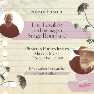 Solovox présente Hommage à Serge Bouchard par Luc Lavallée